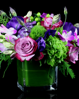 Amethyst Fields Flower Arrangement
