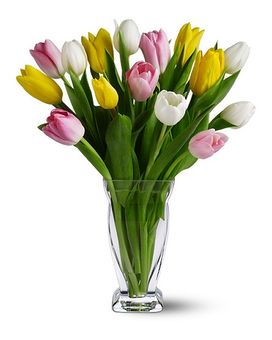 15 Mixed Tulips Flower Arrangement
