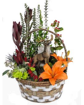 Standing Proud Basket Flower Arrangement