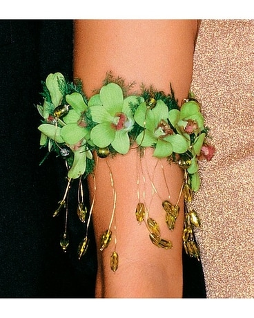 Chartreuse Orchids Armband