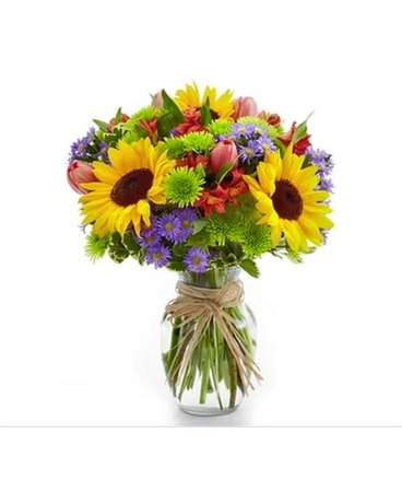 Yellow and green floral arrangements from plaza flowers quick view suns splendor mightylinksfo