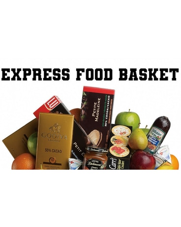Express Food Basket Flower Arrangement