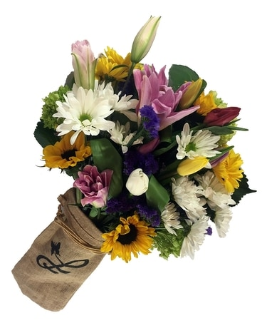 Hand-Wrapped Spring Bouquet Flower Arrangement