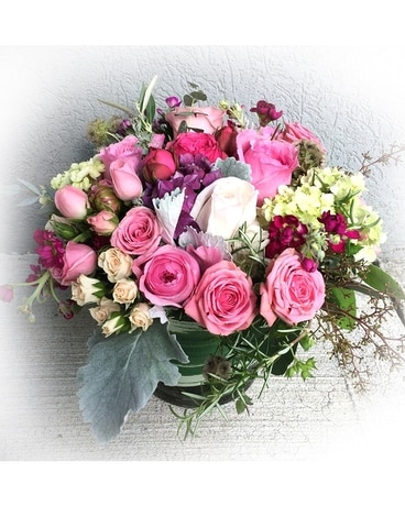 Pink Garden Vase Flower Arrangement