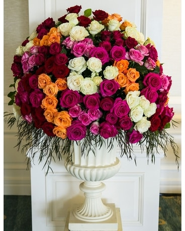 Luxury Rose Urn Flower Arrangement