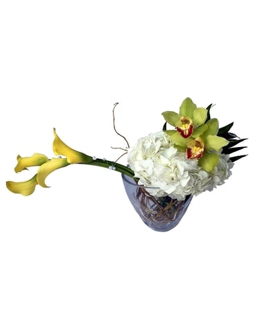 Stylin' Orchids and Callas Flower Arrangement