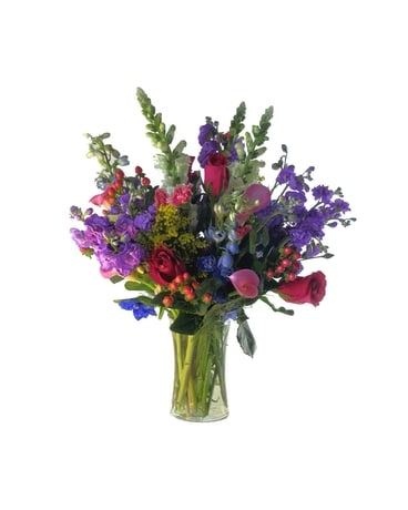 Mixed Spring Vase Flower Arrangement
