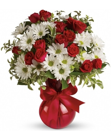 Red, White & You Flower Arrangement
