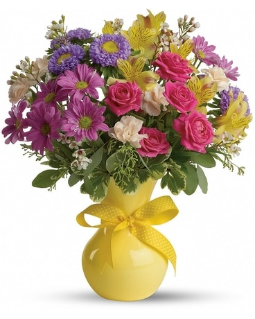 Color It Happy Flower Arrangement