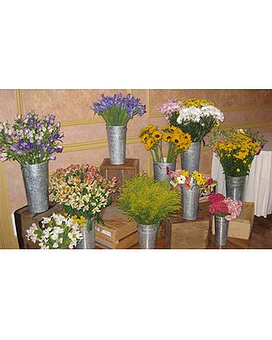 Flower Market Favor Station Reception Decorations
