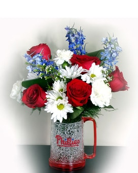 Philadelphia Phillies Freezer Mug Bouquet