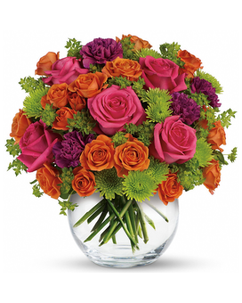 Red And Orange Floral Arrangements And Gifts