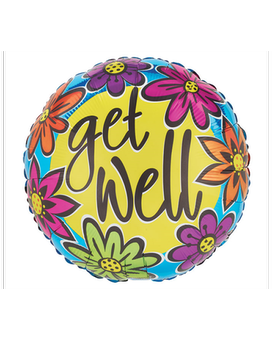 Get Well Colorful Mylar Balloon