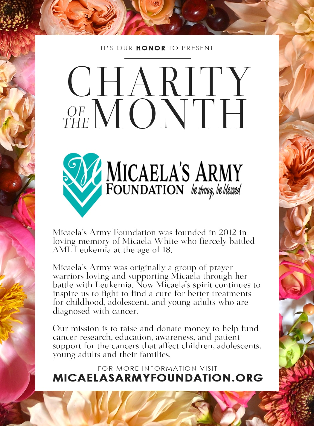The Micaela's Army Foundation Image