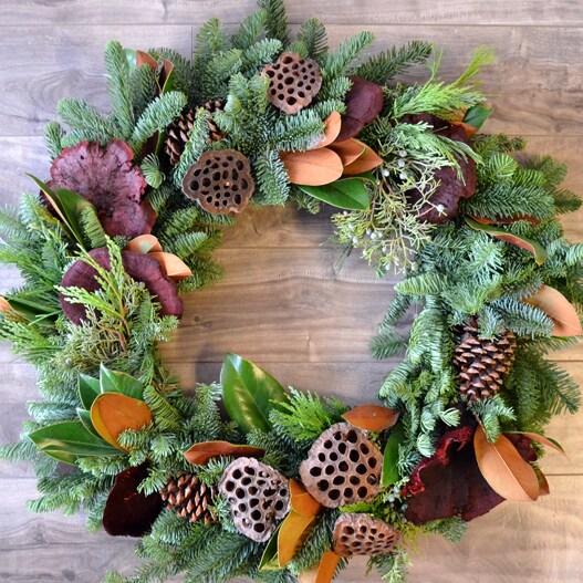 holiday wreaths in Dallas