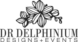 Dr. Delphinium Flower Shop logo, a florist in Dallas