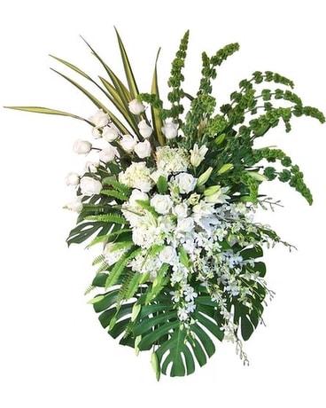 Exquisite tribute white flower spray in dallas tx dr delphinium exquisite tribute white flower spray mightylinksfo