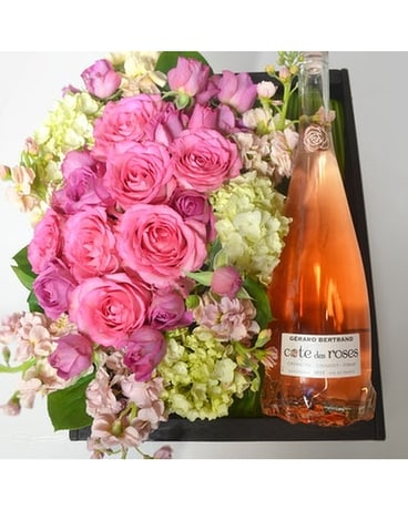 La Bonita Dolce Flowers & Wine Gift Box