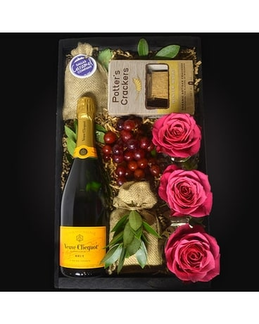 Champagne Vineyard Wine Gift Basket -