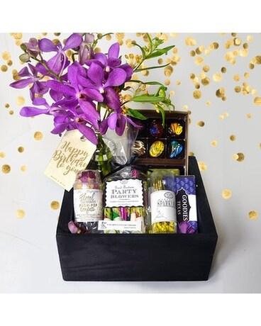 Petal Confetti Birthday Gift Basket