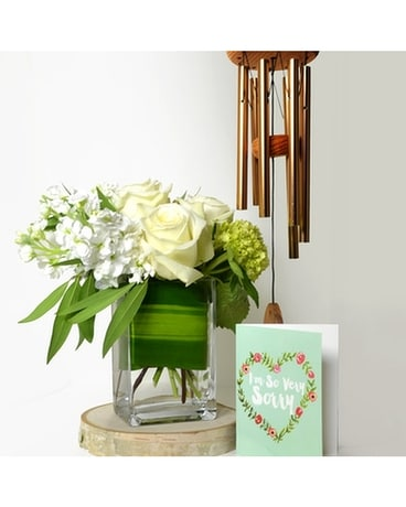 Sympathy Song Flowers & Windchime Set