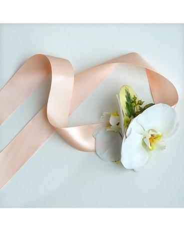 Corsage boutonniere dallas prom flowers dr delphinium snow white corsage mightylinksfo