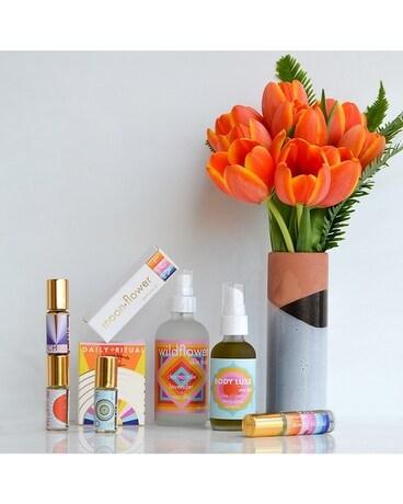 Moonflower Rituals Spa Set Tulips