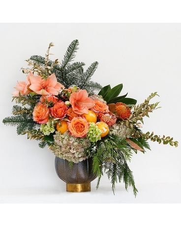 Golden Rings Flower Arrangement