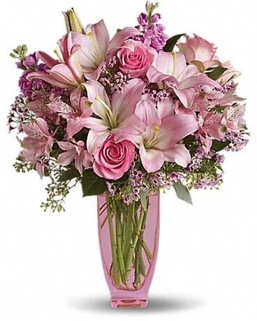 Pink pink in eagle river ak oopsie daisy llc pink pink flower arrangement mightylinksfo