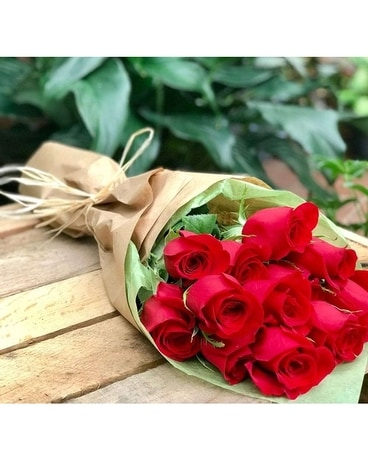 12- Wrapped Red Roses