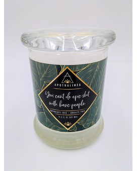Apothalinea candles with **explicit** labels, Set Jar Candle