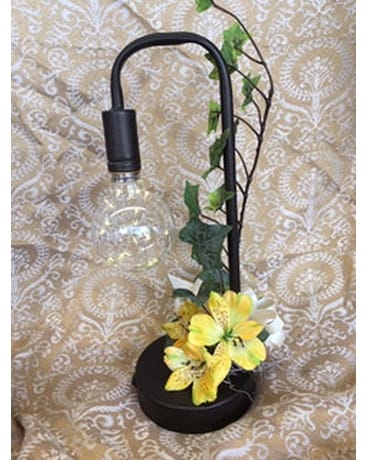 Lamp Flower Arrangement