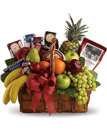 Fruit Basket Flower Arrangement
