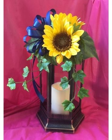 Lantern Flower Arrangement
