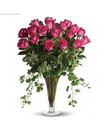 Dreaming in Pink - 18 Long Stemmed Pink Roses Flower Arrangement