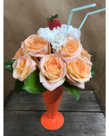 Peaches and Cream Flower Arrangement