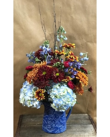 Blue for you Flower Arrangement