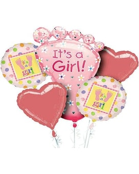 It's A Girl Balloon Bouquet Custom product