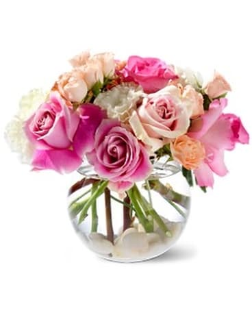 Teleflora's Roses on the Rocks Flower Arrangement