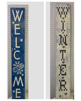 Welcome/Winter porch sign Flower Arrangement