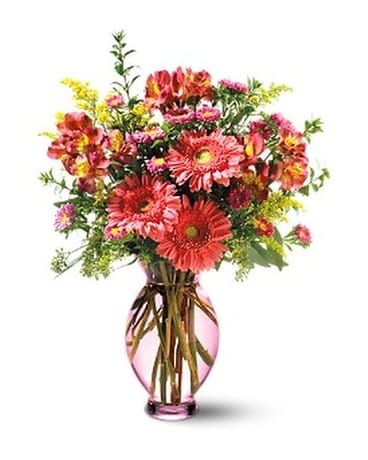 Teleflora's Pink Inspiration Flower Arrangement