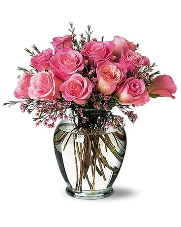 A Pretty Pink Dozen Flower Arrangement
