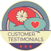 floral Customer Testimonials badge